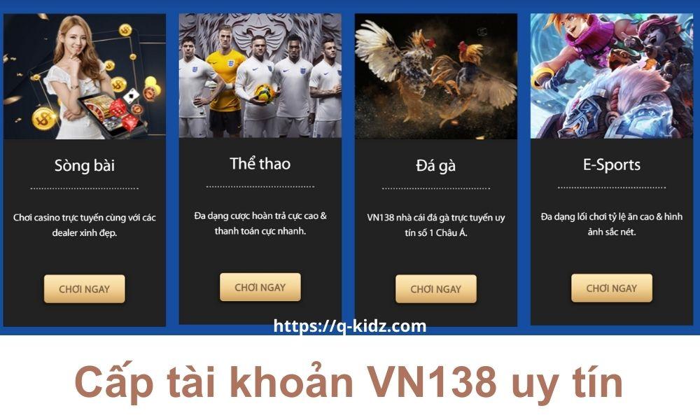 Link đăng ký tài khoản VN138 uy tín
